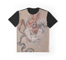 Angel Bunny (with harp and halo) Graphic T-Shirt