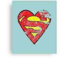 I Love Super man Canvas Print