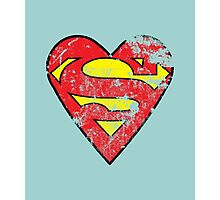 I Love Super man Photographic Print