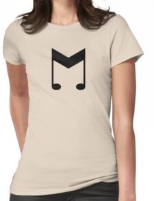 Music Symbol (Black) Womens Fitted T-Shirt