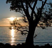 Clear Lake Sunset Sticker