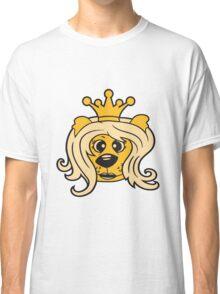 queen princess crown queen face head girl woman female Teddy Bear comic cartoon sweet cute Classic T-Shirt