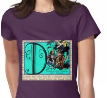 Alice in Wonderland and Through the Looking Glass Alphabet D Womens Fitted T-Shirt