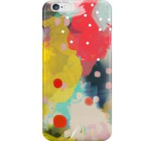 Abstract Art Chaos Contemporary White Polka Dots Modern Art iPhone Case/Skin