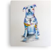 Pit Bull Tattoo Dog Canvas Print