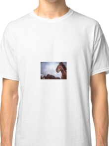 icelandic horses under stormy skies Classic T-Shirt