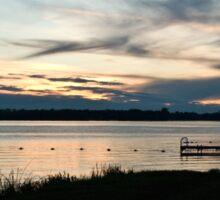 Sunset At The Lake Sticker