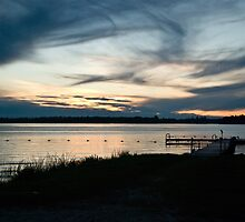 Sunset At The Lake by Crystal Zacharias