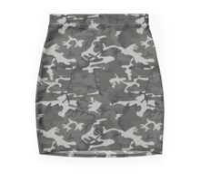 Cold War Grey Camouflage Mini Skirt