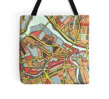 Abstract Map of Lowell Tote Bag