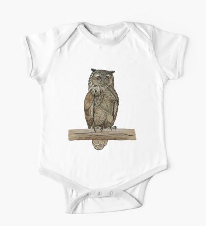 Paper Bag Owl One Piece - Short Sleeve