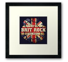 80's Brit Rock London Framed Print