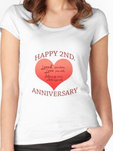 2nd. Anniversary Women's Fitted Scoop T-Shirt