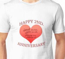 2nd. Anniversary Unisex T-Shirt