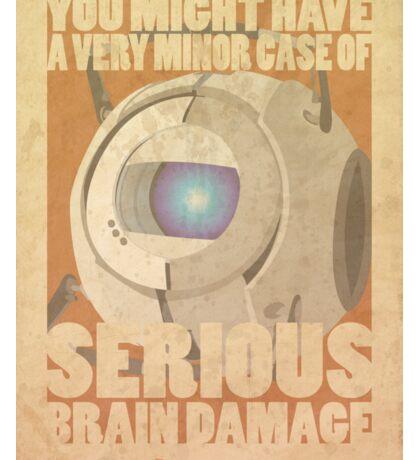 Portal Propaganda Poster - Wheatley Sticker