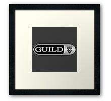 Wonderful Guild Guitars Framed Print