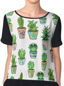 Green cactus Chiffon Top