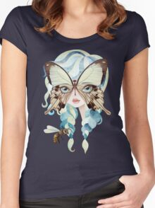 Niella Butterfly Girl Women's Fitted Scoop T-Shirt