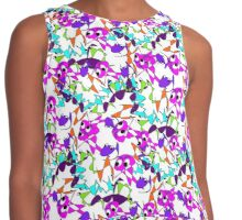 Funny Cute Abstract Colorful Doodle  Contrast Tank