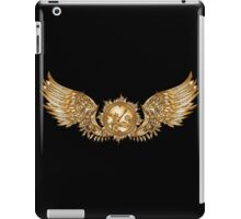 Mechanical wings in steampunk style with clockwork. Gold and black color. iPad Case/Skin