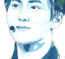 EXO Suho Watercolour Print by NiamhYoungArt Sticker