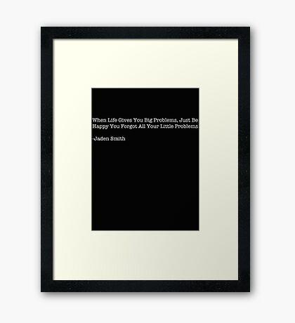 Jaden Smith- problems Framed Print