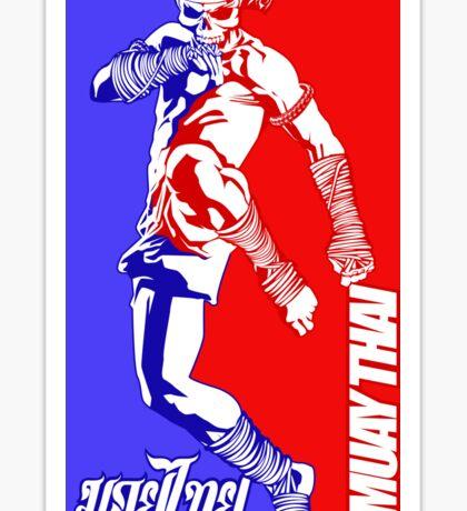 muay thai skull thailand martial art sport logo badge sticker shirt Sticker