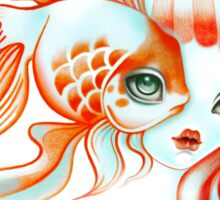 Dreamland Muses - Jellyfish Girl & Goldfish Sticker