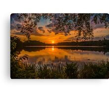 Virginia Water Sunset Canvas Print