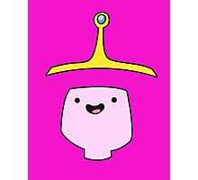 Princess Bubblegum Adventure Time Minimalist Face Photographic Print
