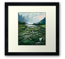 The Great Waterfall Framed Print