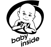 baby inside new family member will born Photographic Print