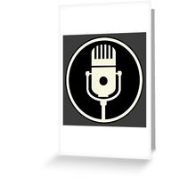 Vintage Microphone (Black BG) Greeting Card