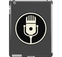 Vintage Microphone (Black BG) iPad Case/Skin