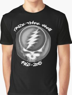 """Grateful Dead """"Fare Thee Well"""" 50th Anniversary Steal Your Face GD50 Graphic T-Shirt"""