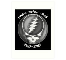 "Grateful Dead ""Fare Thee Well"" 50th Anniversary Steal Your Face GD50 Art Print"