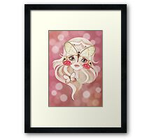 Merolina Moth Girl Framed Print