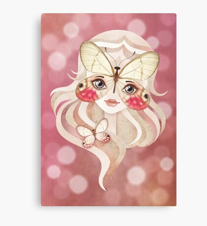 Merolina Moth Girl Canvas Print