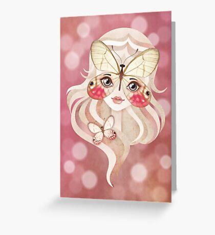 Merolina Moth Girl Greeting Card