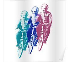 Albert Einstein by bike Poster