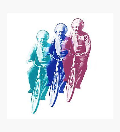 Albert Einstein by bike Photographic Print