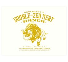 Davengatt's Double-Zed Nerf Ranch Art Print