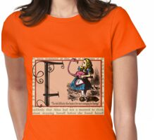 Alice in Wonderland and Through the Looking Glass Alphabet F Womens Fitted T-Shirt