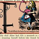 Alice in Wonderland and Through the Looking Glass Alphabet F by Samitha Hess Edwards