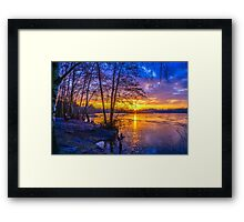 Sunrise Across The Lake Framed Print