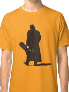 johnny cash back walking with guitar art Classic T-Shirt