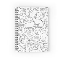 Cat Pattern Spiral Notebook