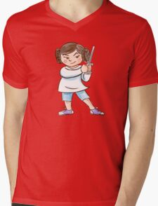 Backyard Star Wars - Princess Leia Mens V-Neck T-Shirt