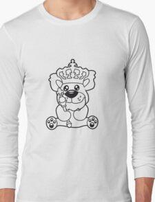 king crown old opa scepter sitting Teddy comic cartoon sweet cute Long Sleeve T-Shirt