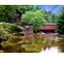 McConnell's Mill and Bridge Photographic Print